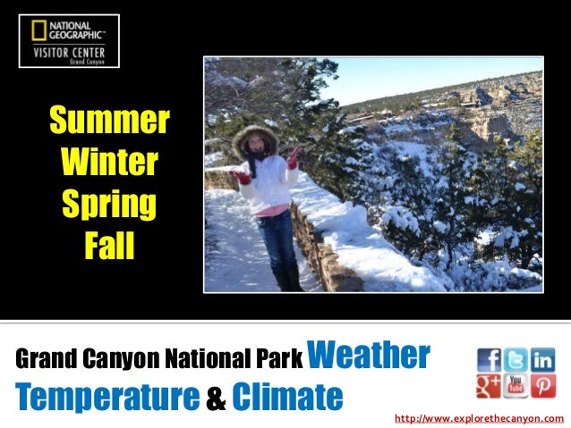 Summer Winter Spring Fall Grand Canyon National Park Weather  Temperature & Climate  http://www.explorethecanyon.com