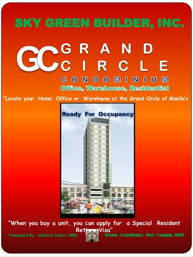 "SKY GREEN BUILDER, INC.""Locate your Home, Office or Warehouse at the Grand Circle of Manila's                           bu..."