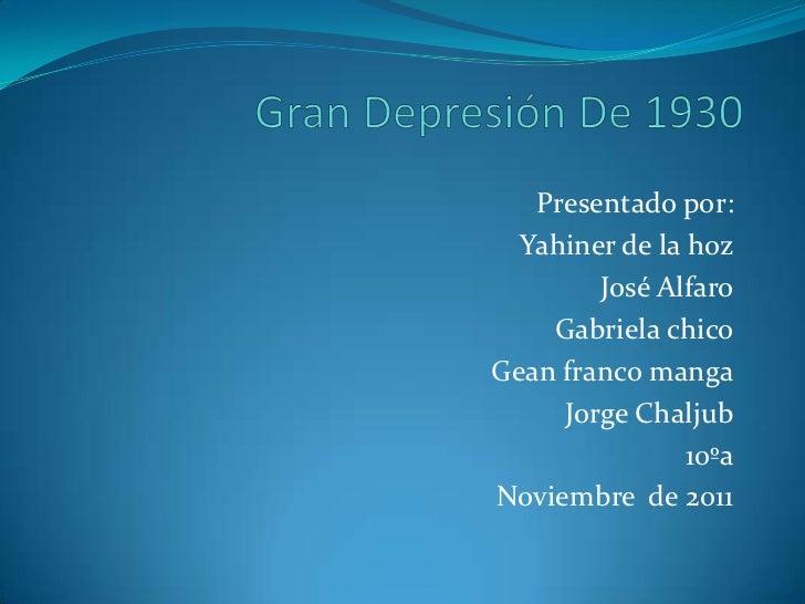 Gran depresión de 1930