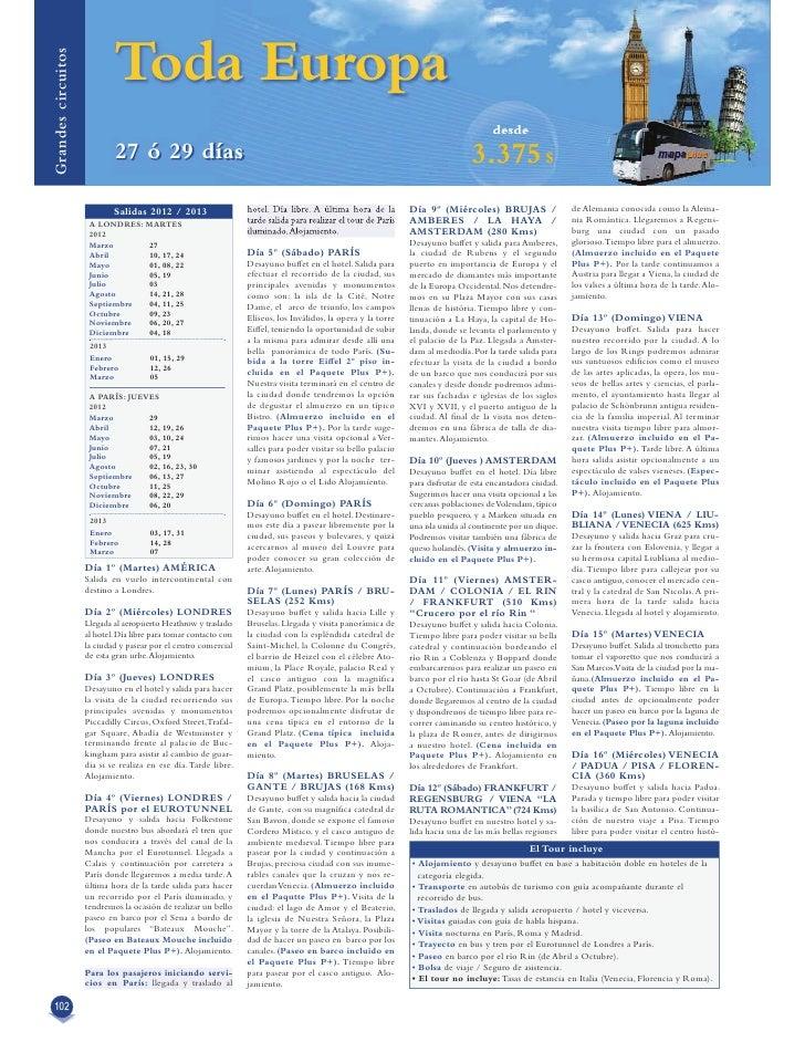 Grandes Circuitos Europa 2012. Parte 2