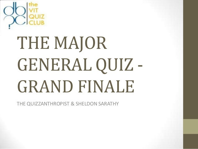 Finals of Quiz of the Month April 2012 by Sarathy and Murali