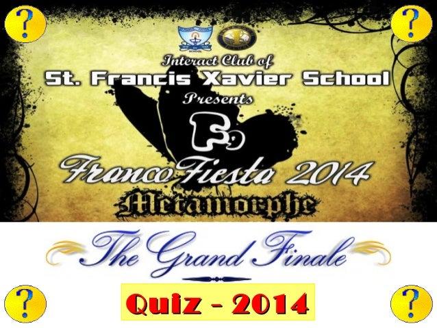 Grand Finale of the Franco Fiesta F9 Quiz-2014