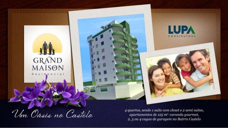 Sobre o Residencial Grand MaisonExclusivo apartamento 4 quartos no Bairro Castelo em Belo HorizonteO Residencial Grand Mai...