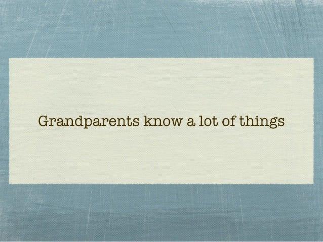 Grandparents' Day at The Cobb School, Montessori Nov. 12, 2010