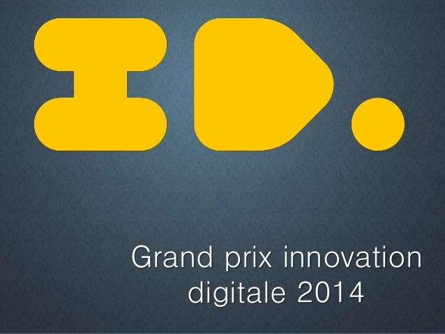 Grand prix innovation digitale 2014