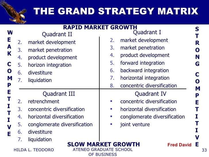gm grand strategy matrix Strategic analysis on ford motor other companies such as general motors took the opportunity to make serious inroads into ford's grand strategy matrix.