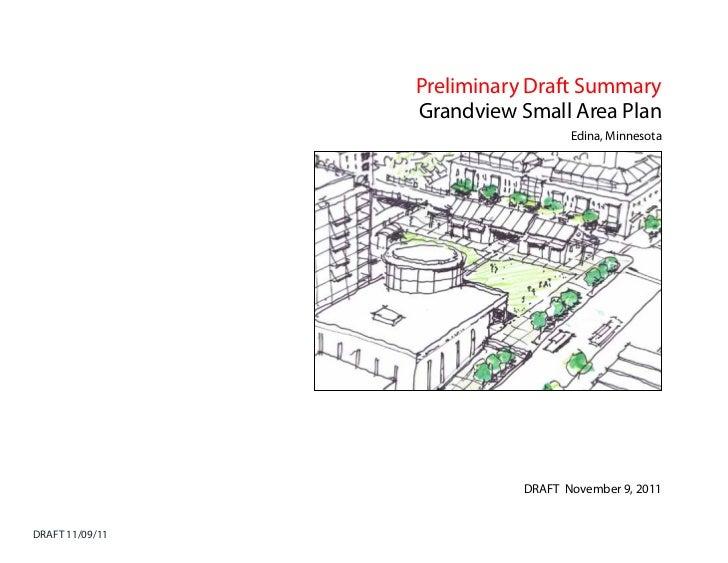 Preliminary Draft Summary                 Grandview Small Area Plan                                  Edina, Minnesota     ...