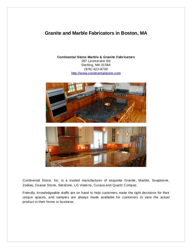 Granite and Marble Fabricators in Boston, MA                      Continental Stone Marble & Granite Fabricators          ...