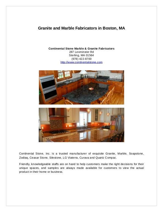 Granite and Marble Fabricators in Boston MA