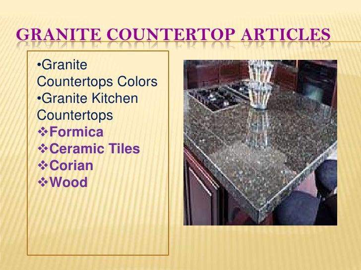 Granite countertop articles