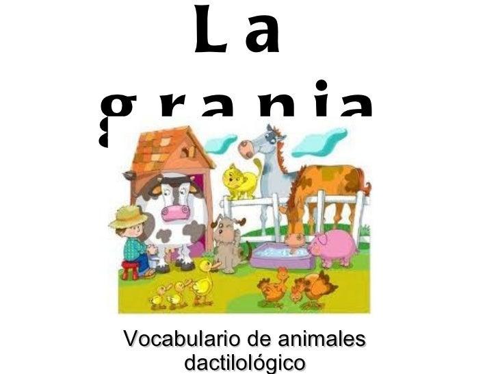 La granja Vocabulario de animales dactilológico