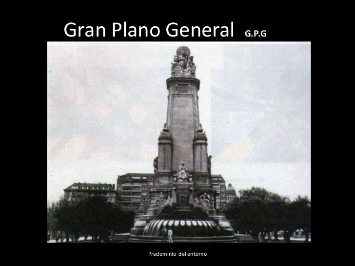 Gran Plano General               G.P.G        Predominio del entorno