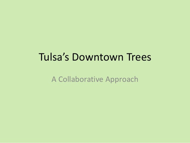 Tulsa's Downtown Trees A Collaborative Approach