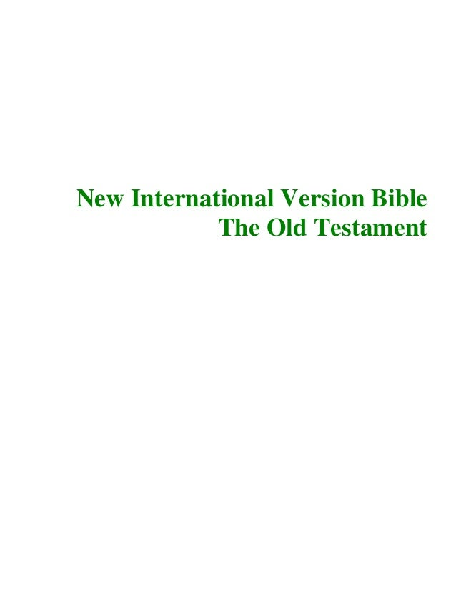 New International Version Bible The Old Testament