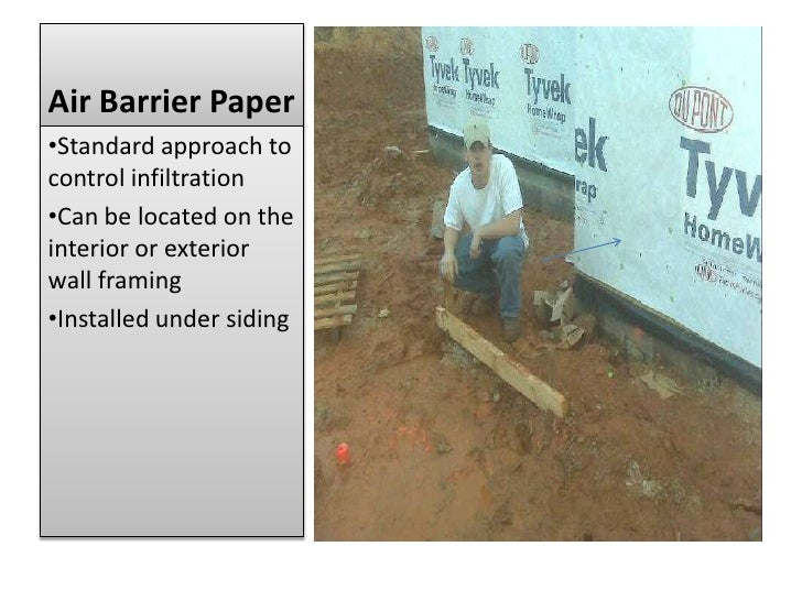 Air Barrier Paper<br /><ul><li>Standard approach to control infiltration