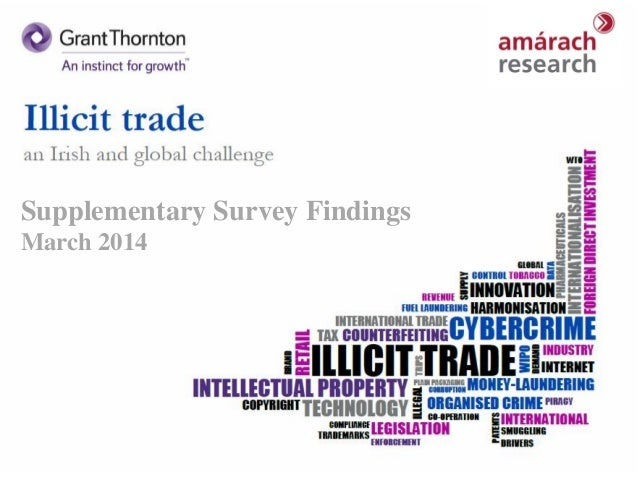 Grant Thornton Illicit Trade Research Draft 1 A Presentation Prepared For: February 2014 S14-055 MMcL/MG Supplementary Sur...