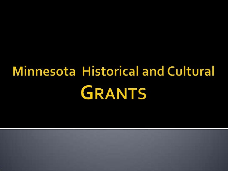 MN Historical & Cultural Grants Workshop