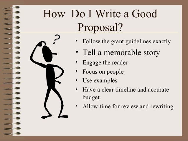 Do write a proposal
