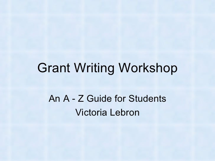 Grant writing workshop2