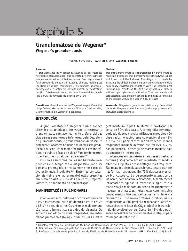 Granulomatose de Wegener                                                                                                  ...