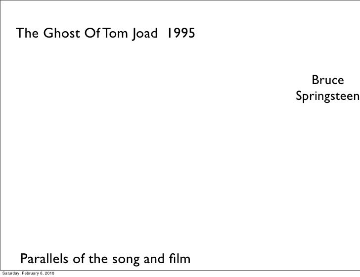 The Ghost Of Tom Joad 1995                                             Bruce                                         Sprin...