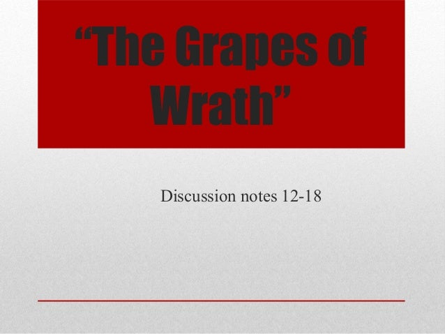 grapes of wrath chapter 30 Grapes of wrath study guide chapters 26-30 1 erin, emma and avery osetting, mood, and theme oliterary and figurative devices oconflict, character, and plot development.