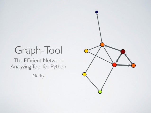 Graph-Tool The Efficient Network AnalyzingTool for Python  Mosky