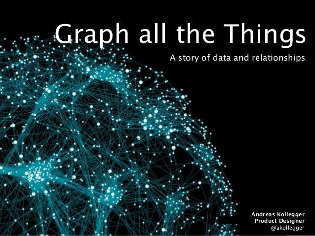 Graph all the Things A story of data and relationships Andreas Kollegger Product Designer @akollegger