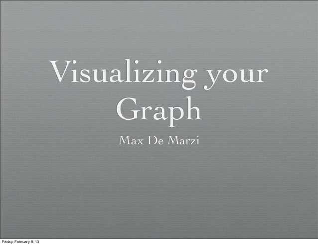 Visualizing your                             Graph                              Max De MarziFriday, February 8, 13