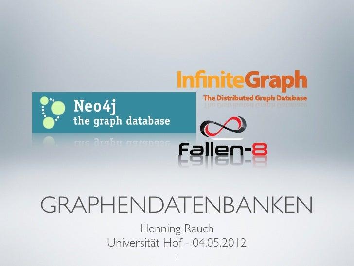 Vorlesung Graphendatenbanken an der Universität Hof