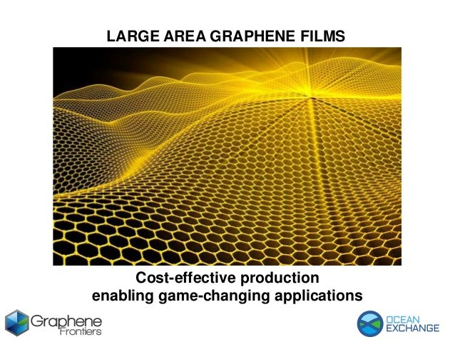 LARGE AREA GRAPHENE FILMS Cost-effective production enabling game-changing applications