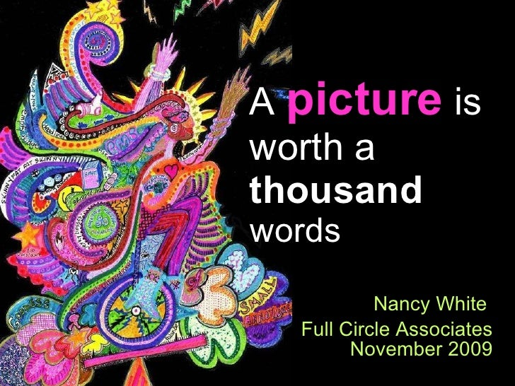 Nancy White  Full Circle Associates November 2009 A  picture  is worth a  thousand  words