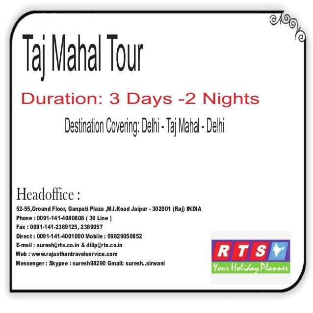 Taj Mahal Tour Rajasthan Travel Service