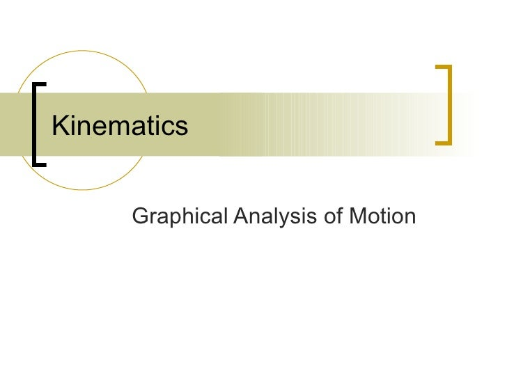 Kinematics Graphical Analysis of Motion