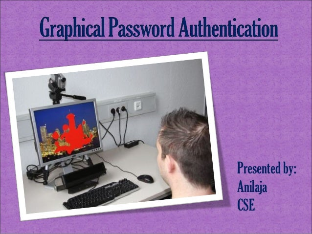 Graphical password authentication