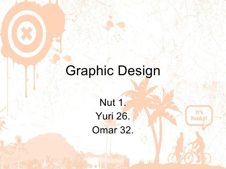 Graphic Design Nut 1. Yuri   26. Omar 32.