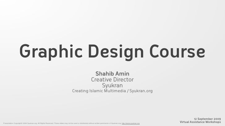 Graphic Design Course                                                                                                     ...