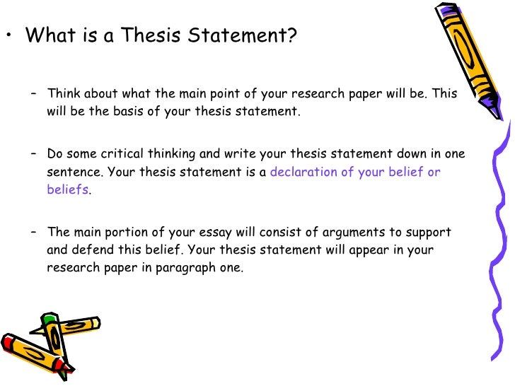 how to build a research paper thesis