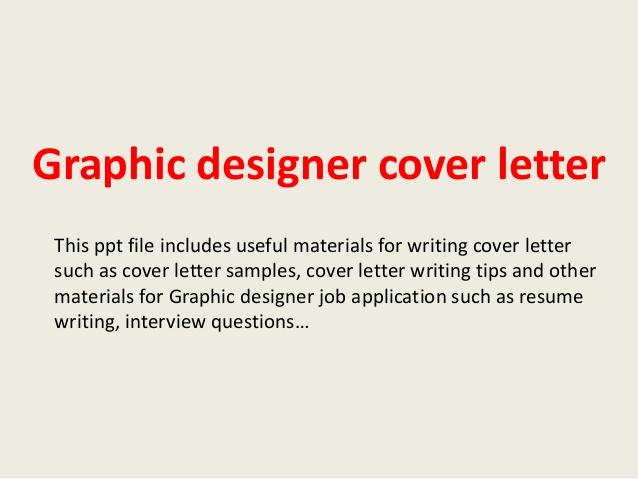 Job Application Letters for Graphic Designer