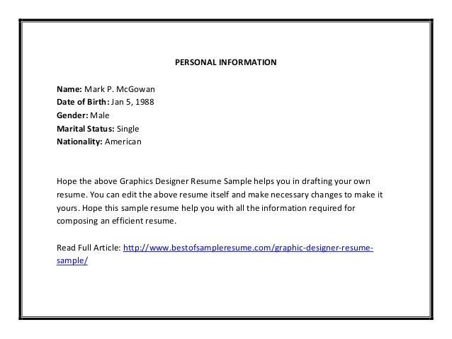 graphic designer resume sle pdf