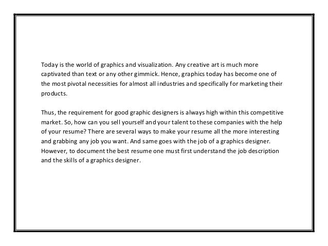 Resume cover letter samples graphic design