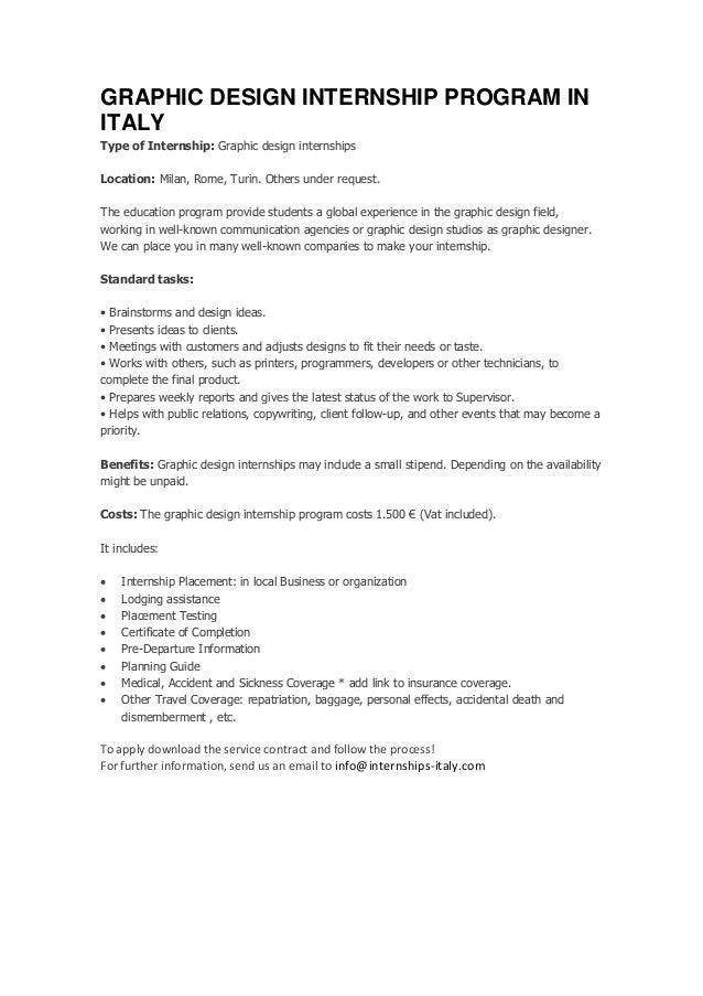 Internship graphic design cover letter