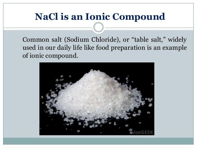 NaCl ist eine Ionische...