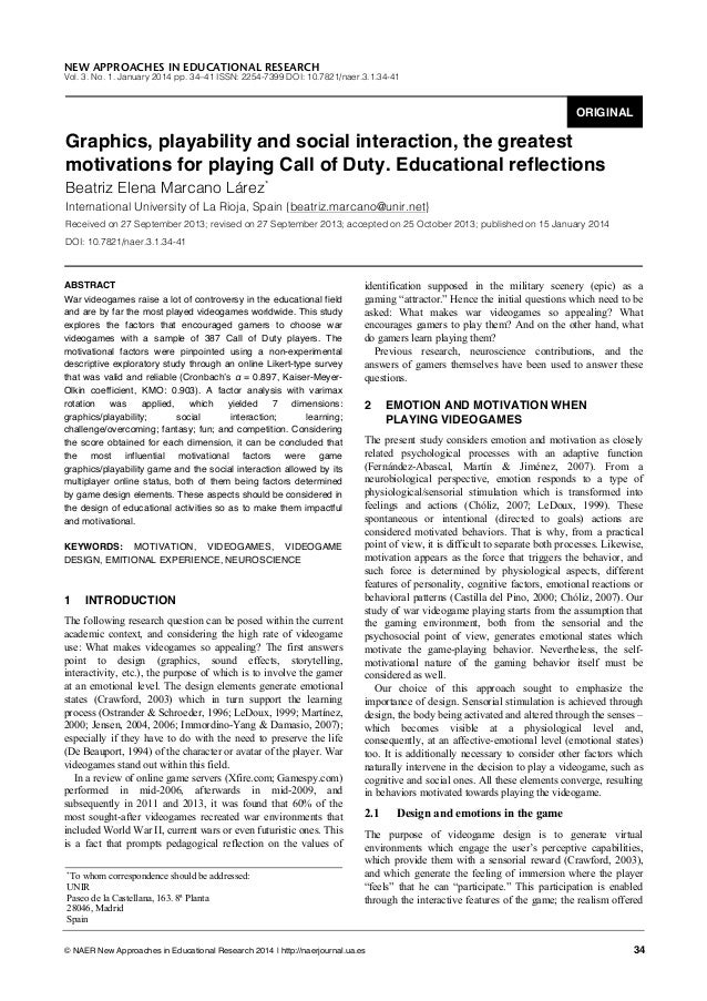 NEW APPROACHES IN EDUCATIONAL RESEARCH  Vol. 3. No. 1. January 2014 pp. 34–41 ISSN: 2254-7399 DOI: 10.7821/naer.3.1.34-41 ...