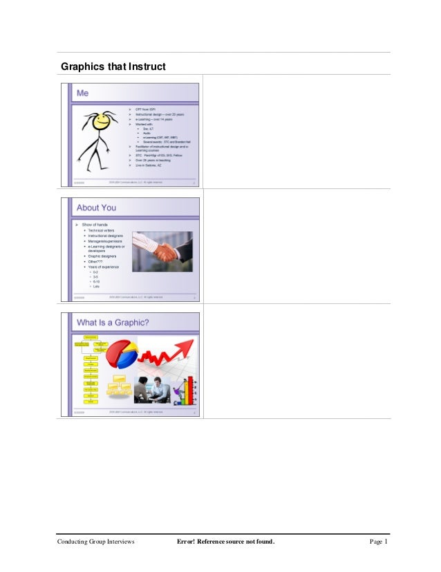 Conducting Group Interviews Error! Reference source not found. Page 1Graphics that Instruct