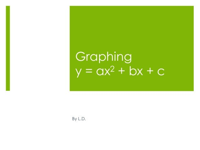 Graphing y = ax2 + bx + cBy L.D.