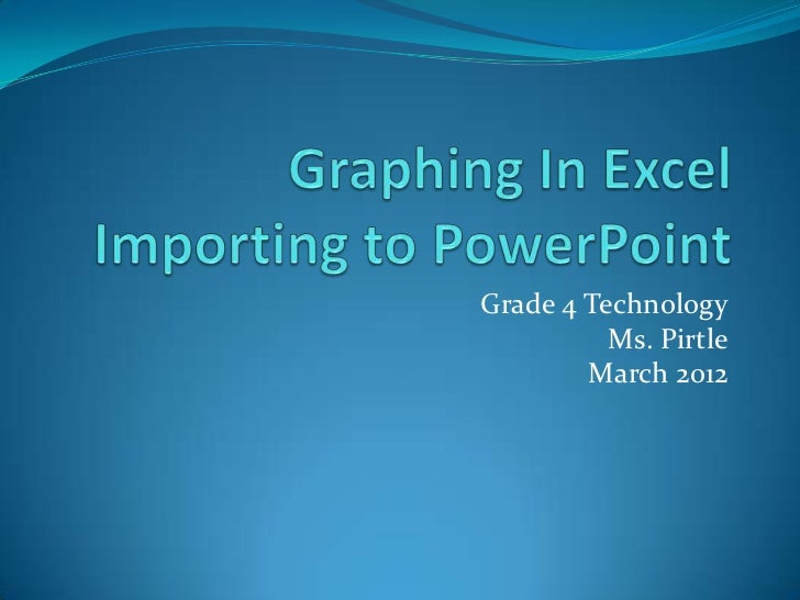 Grade 4 Technology          Ms. Pirtle        March 2012