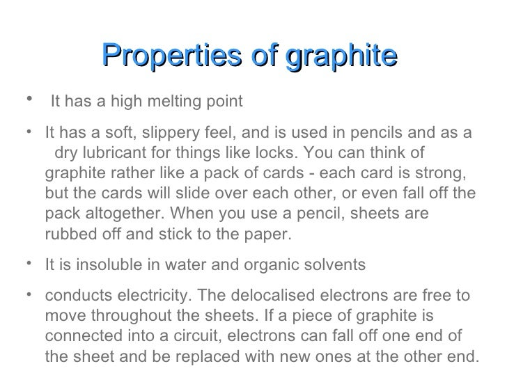 Graphite Physical Properties And Uses