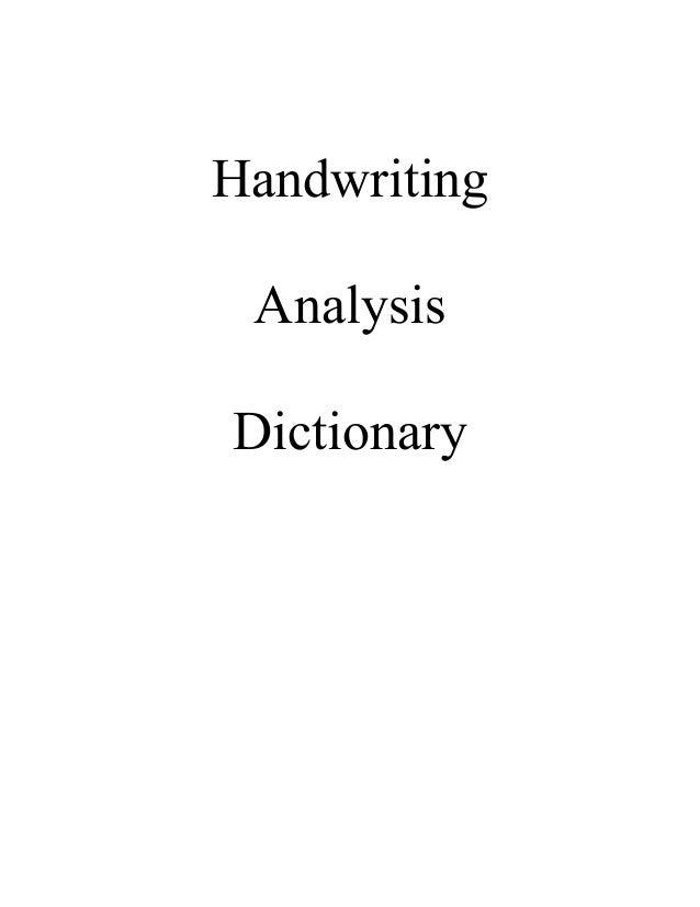 Dictionary of Handwriting Analysis Terms