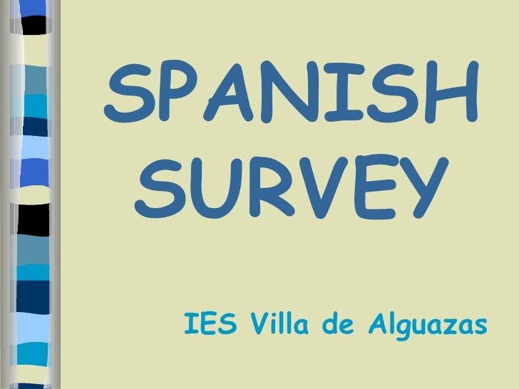 SPANISH SURVEY IES Villa de Alguazas